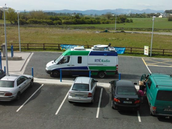 RTE Mobile Broadcast Van. Image via Bernard Goldblach, Flickr
